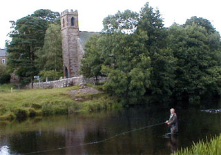 Fishing on the River Eden at Warcop